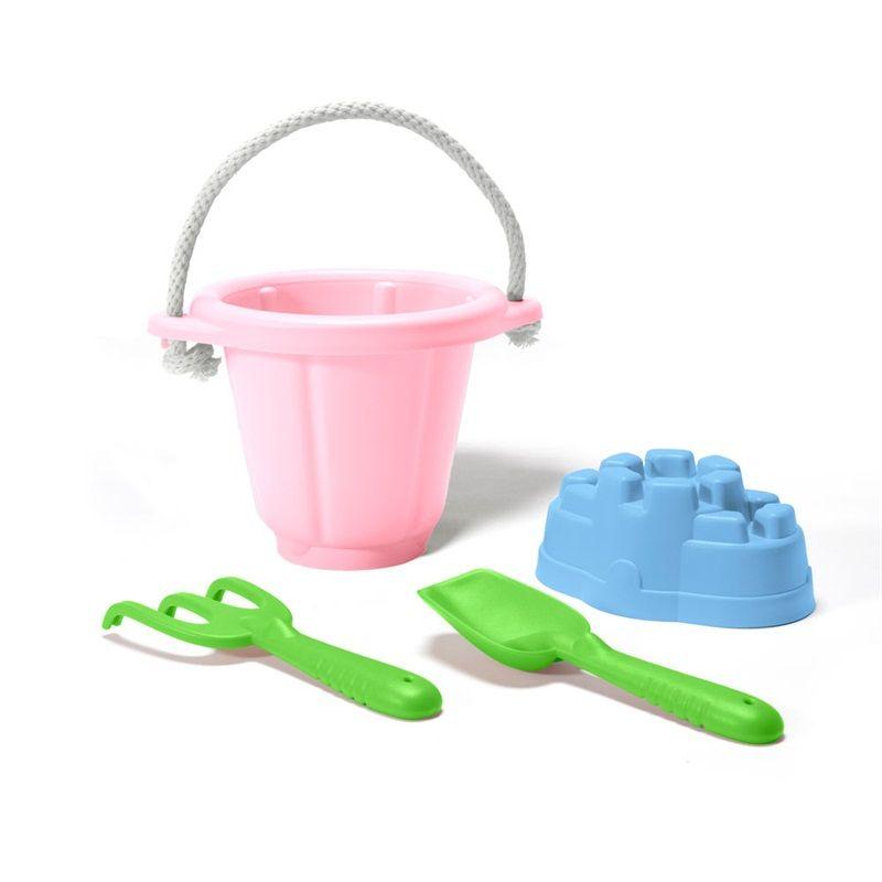 Dřevěné hračky Green Toys Růžový set na písek