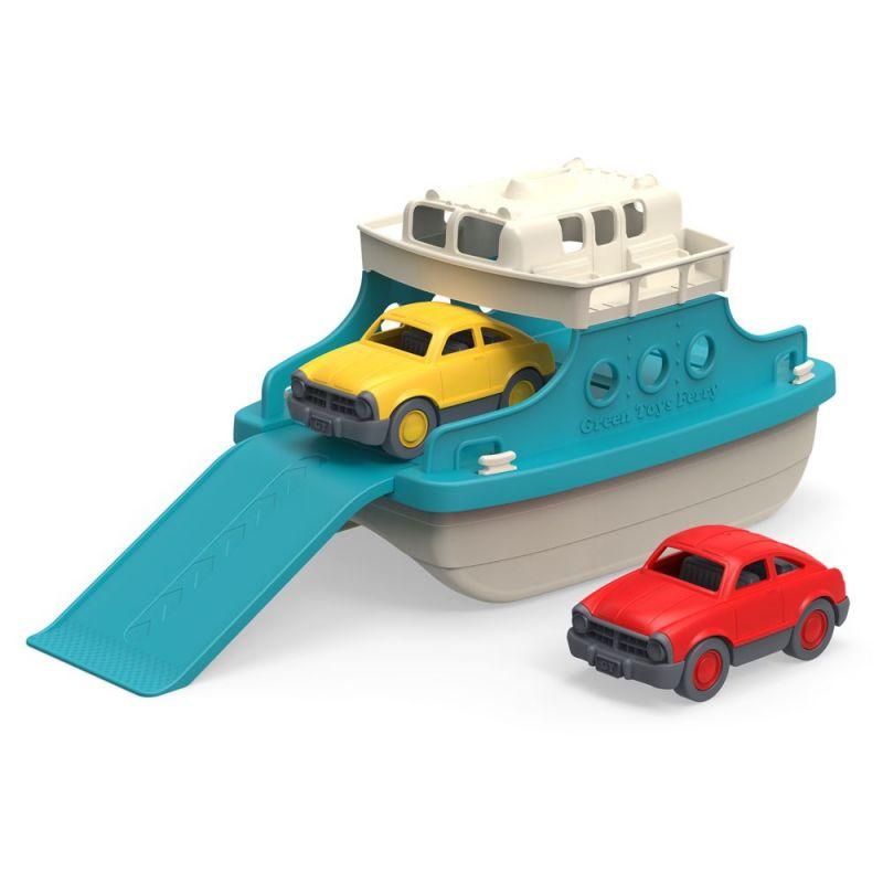 Dřevěné hračky Green Toys Trajekt s auty