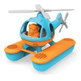 Dřevěné hračky Green Toys Vrtulník hydroplán modrý