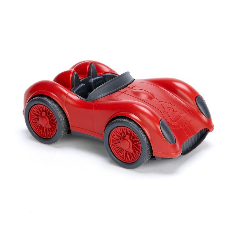 Dřevěné hračky Green Toys - Závodní auto červené