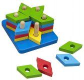 Motorické hračky - Nasazování na tyč - Puzzle hvězda