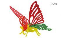 Robotime dřevěná skládačka - Motýl +barvy a štětec