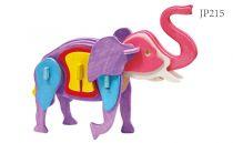 Robotime dřevěná skládačka - Slon +barvy a štětec