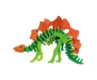 Robotime dřevěná skládačka - Stegosaurus +barvy a štětec