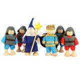 Bigjigs panenky - Set královských rytířů 6ks