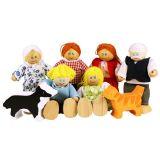Bigjigs Toys panenky - Set rodinky do domečku 7ks