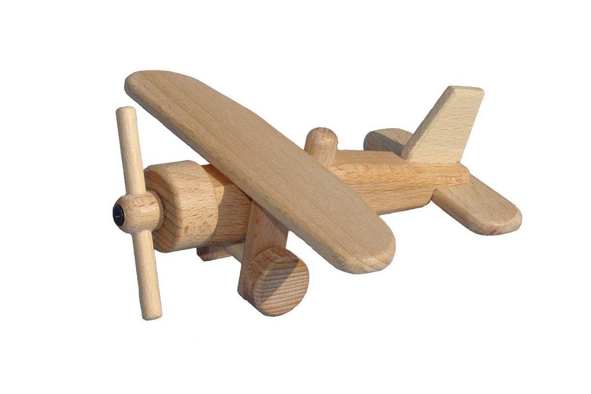 Dřevěné hračky Ceeda Cavity - dřevěné letadla a vrtulníky - Letadlo I.