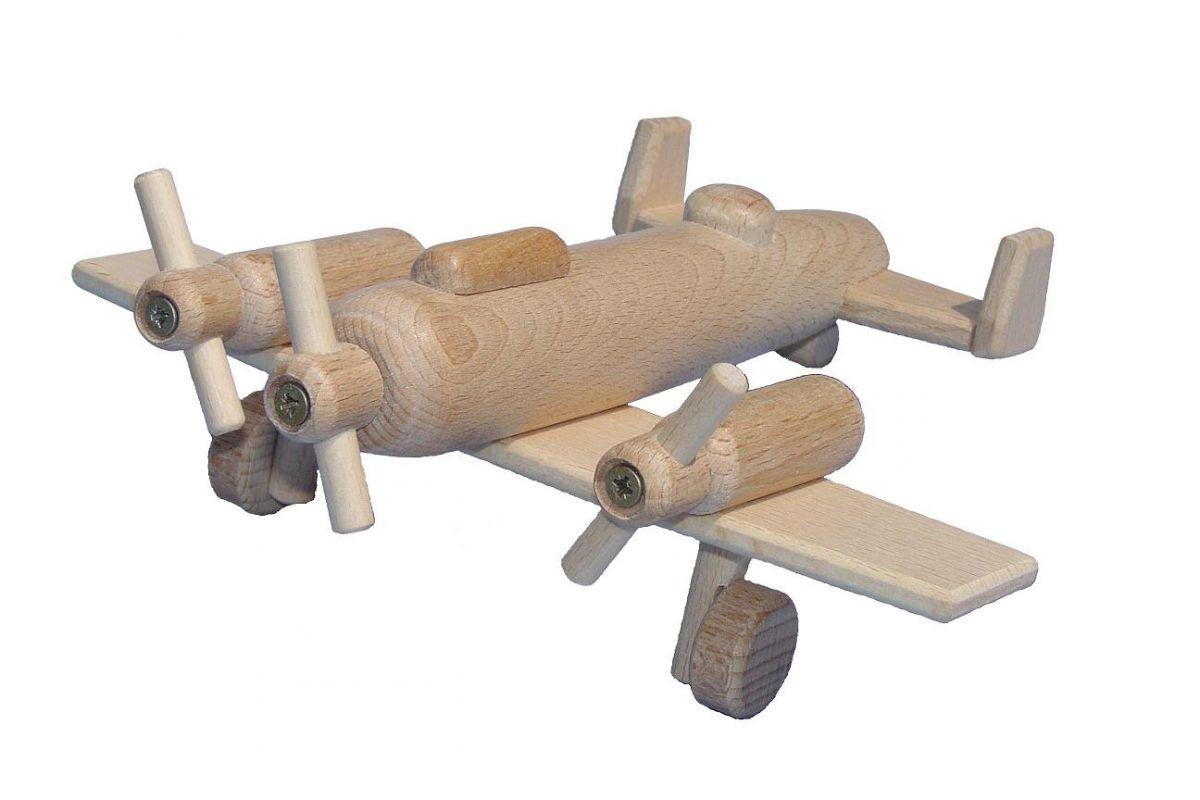 Dřevěné hračky Ceeda Cavity - dřevěné letadlo bombardér II.