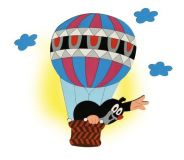 DoDo Dětská lampička krtek v balónu