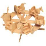 Woodcraft Dřevěné 3D puzzlekolotoč