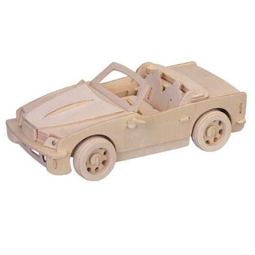 Dřevěné hračky Woodcraft Dřevěné 3D puzzle velké BMW Woodcraft construction kit