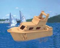 Dřevěné 3D puzzle - dřevěná skládačka - loď - Jachta P041