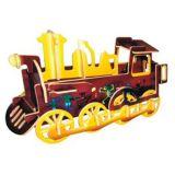 Woodcraft Dřevěné 3D puzzle lokomotiva