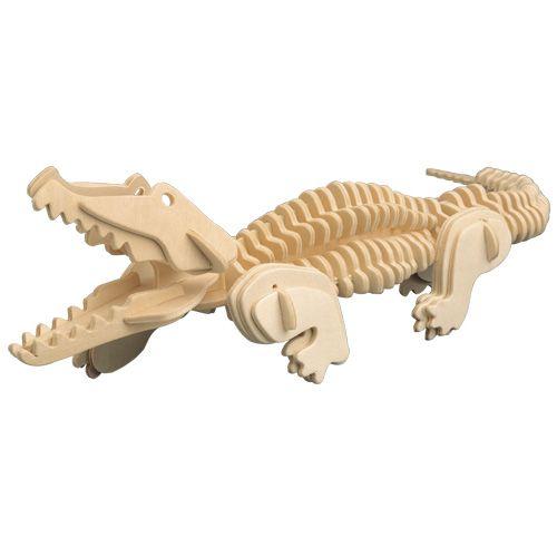 Dřevěné hračky Woodcraft Dřevěné 3D puzzle krokodýl Woodcraft construction kit