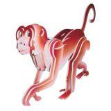 Dřevěné 3D puzzle dřevěná skládačka zvířata - Opice MC009