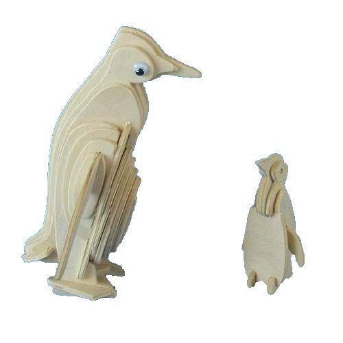 Dřevěné hračky Woodcraft Dřevěné 3D puzzle tučňák Woodcraft construction kit