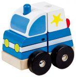 Dřevěné 3D puzzle, policie