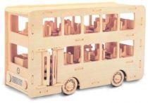 Dřevěné 3D puzzle skládačka auta Autobus Double Decker P093