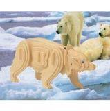 Woodcraft Dřevěné 3D puzzle polární medvěd