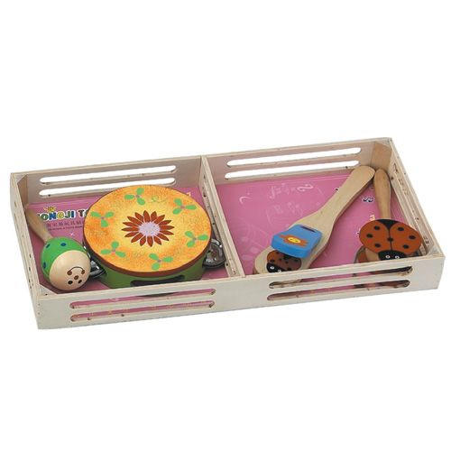 Dřevěné hračky HJ Toys Dětské hudební nástroje sada A