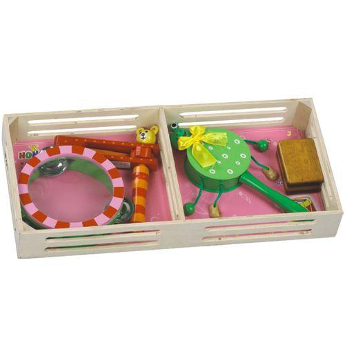 Dřevěné hračky HJ Toys Dětské hudební nástroje sada B