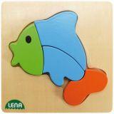 Lena Dřevěné puzzle ryba