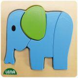 Lena Dřevěné puzzle slon