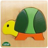 Lena Dřevěné puzzle želva