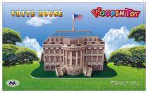 Woodcraft Dřevěné 3D puzzle bílý dům