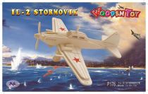 Dřevěné skládačky 3D puzzle letadla - Letadlo IL-2