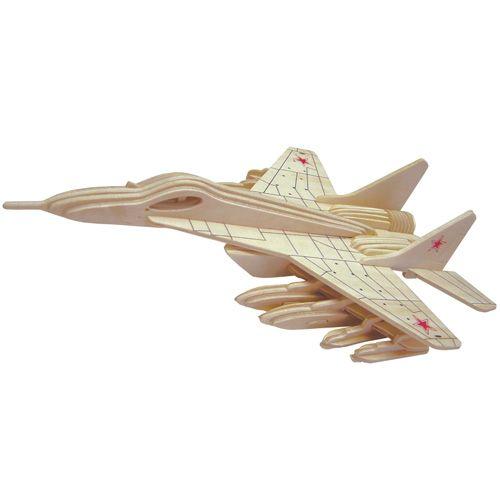 Dřevěné hračky Woodcraft Dřevěné 3D puzzle stíhačka Woodcraft construction kit