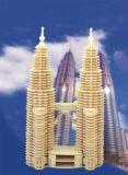 Dřevěné skládačky 3D puzzle -  Petronas Twin Towers P102