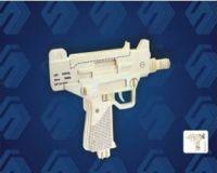 Woodcraft Dřevěné 3D puzzle pistole UZI