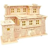 Dřevěné skládačky 3D puzzle - Tibetský dům I MW111