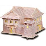 Dřevěné skládačky 3D puzzle - Tibetský dům II MW112
