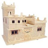 Dřevěné skládačky 3D puzzle - Tibetský dům MW113