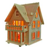 Woodcraft Dřevěné 3D puzzle vila