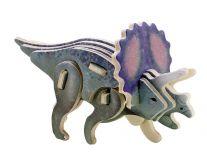 Dřevěné skládačky - sřední 3D puzzle - Triceratops