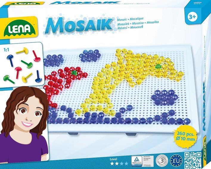 Dřevěné hračky Lena Mozaika velká klobouček 10mm krystal