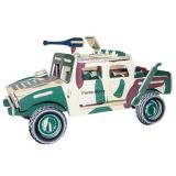 Dřevěné 3D puzzle dřevěná skládačka auta Bojové vozidlo P063
