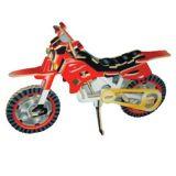 Dřevěné 3D puzzle dřevěná skládačka - Terénní motorka PC022