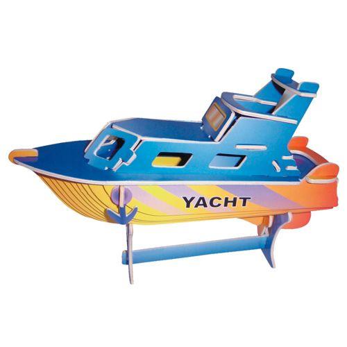 Dřevěné hračky Woodcraft Dřevěné 3D puzzle jachta Woodcraft construction kit