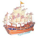 Dřevěné hračky Dřevěné 3D puzzle lodě - dřevěná skládačka Plachetnice PC131 Woodcraft construction kit