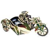 Dřevěné 3D puzzle motorky - Motorka trojkolka-Saidkára PC124