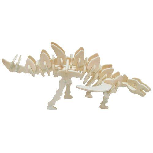Dřevěné hračky Dřevěné 3D puzzle skládačka - dinosauři Gigantspinosaurus Woodcraft construction kit