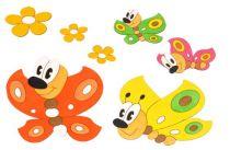 DoDo Dřevěná dekorace motýlci a kytičky