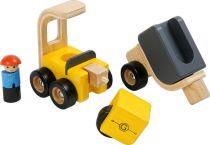 Dřevěné hračky - dřevěné nakladní auto s elektrocentrálou