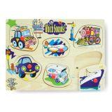 Dřevěné hračky -Vkládací puzzle ozvučené-Dopravní prostředky
