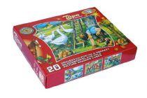 Dřevěné obrázkové kostky kubusy - Na statku - 20 kostek