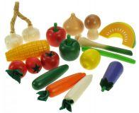 Dřevěné potraviny - Zeleninová sada 17 kusů
